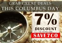 Columbus Day discount coupon code