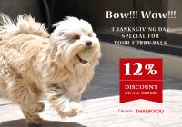 thanksgiving day special discount for pets