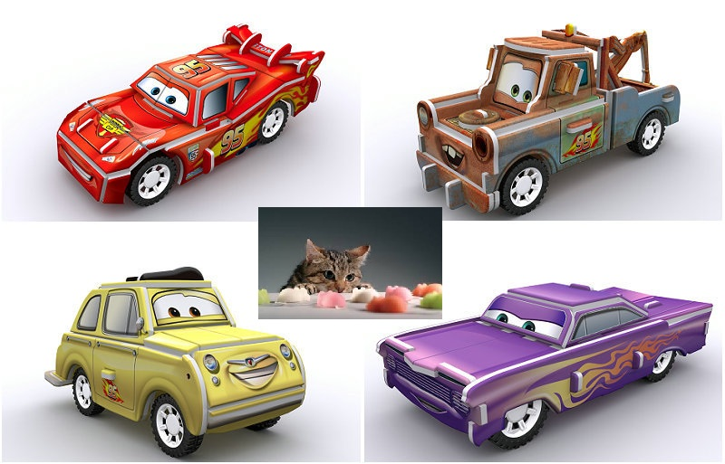 Car Model Game for Cats