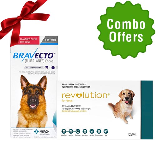 Revolution + Bravecto chews for dogs