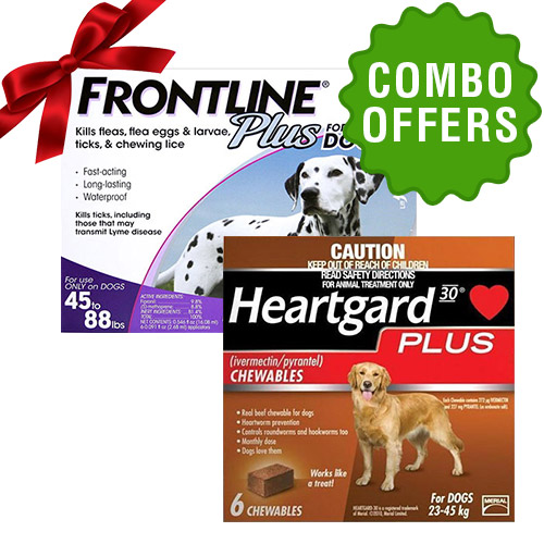 Frontline Plus + Heartgard Plus combo for Dog