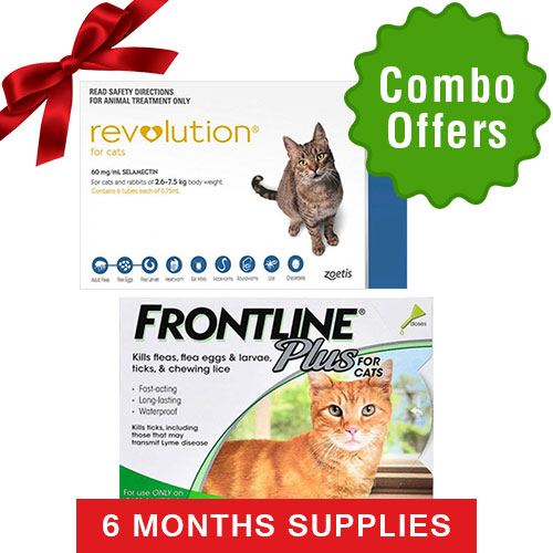 Frontline Plus & Revolution Combo Pack for Cats