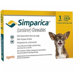 Simparica Oral Flea & Tick Preventive