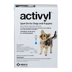 Activyl For Very Small Dogs 4-14 Lbs Blue 4 Pack