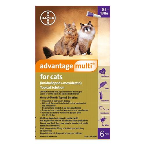 Advantage Multi Advocate Cats Over 10lbs Purple 6 Doses