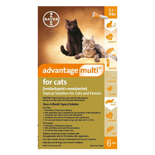 Advantage Multi (Advocate) Kittens & Small Cats up to 10lbs (Orange)