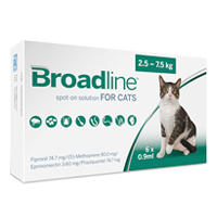 Broadline Spot-On Solution  for Large Cats 5.5 to 16.5 lbs