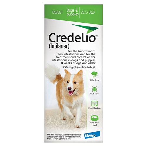 Credelio_For_Dogs_25_To_50_Lbs_450mg_Green_3_Doses
