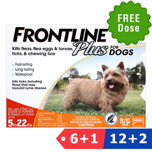 Frontline Plus For Small Dogs Up To  Lbs  Doses