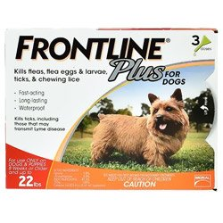 Frontline Plus Small Dogs up to 22lbs (Orange)