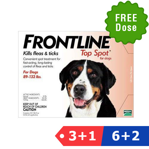 Frontline Top Spot Extra Large Dogs 89-132lbs (Red)