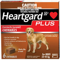 Heartgard Plus Chewables for Large Dog 51-100lbs (Brown) 12 Doses