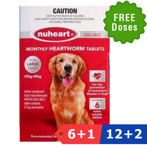 Nuheart Generic Nuheart for Large Dogs 51-100lbs (Red)