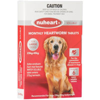 INOpets.com Anything for Pets Parents & Their Pets Heartgard Plus Generic Nuheart For Large Dogs 51-100lbs (Red) 6 Tablet