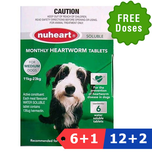 Nuheart Generic Nuheart Medium Dogs 26-50lbs (Green)