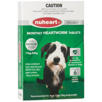 INOpets.com Anything for Pets Parents & Their Pets Heartgard Plus Generic Nuheart Medium Dogs 26-50lbs (Green) 12 Tablet