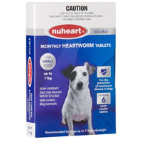 INOpets.com Anything for Pets Parents & Their Pets Heartgard Plus Generic Nuheart Small Dogs Upto 25lbs (Blue) 12 Tablet