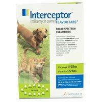 Interceptor For Dogs 11-25 lbs (Green) 12 Chews