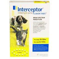 Interceptor For Dogs 26-50 lbs (Yellow) 3 Chews