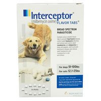 Interceptor For Dogs 51-100 lbs  12 Chews