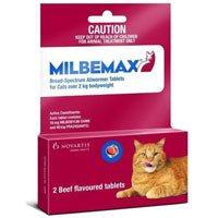 Milbemax Cats 2kg-8kg 2 Tablet