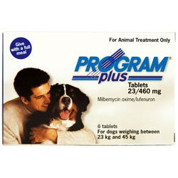 Program Plus for Dogs 46 - 90 lbs (White)