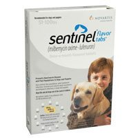 Sentinel For Dogs 51-100 lbs (White) 12 Chews