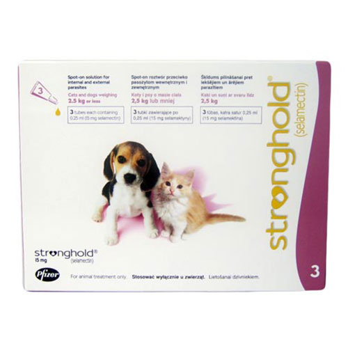 Stronghold  Kittens & Puppy Upto 2.6 Kg 15 mg (Rose)