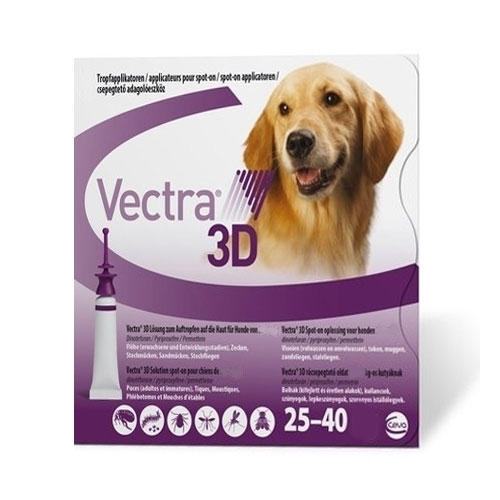 Vectra 3d For Large Dogs 55-88lbs 12 Doses