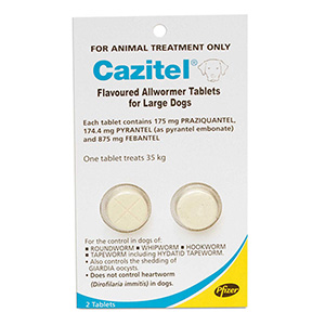 Cazitel Flavoured Allwormer for Dogs