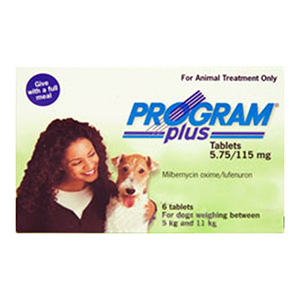 Program Plus For Dogs 11 - 20lbs Green 6 Tablet