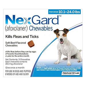 Nexgard For Medium Dogs 10.1-24 Lbs Blue 28mg 6 Chews