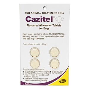 Cazitel Flavoured Allwormer Dogs 10kg 2 Tablet