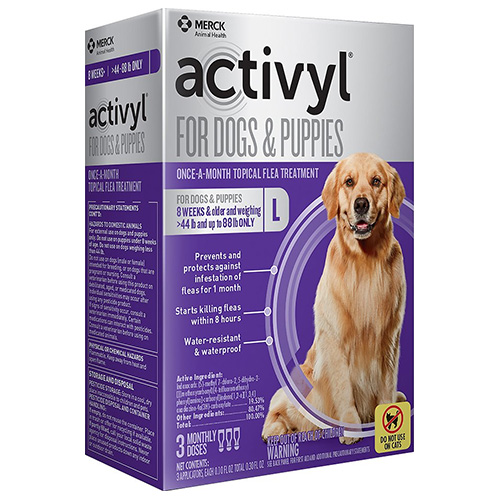 Best Vet Care coupon: Activyl For Large Dogs 44-88 Lbs Purple 4 Pack