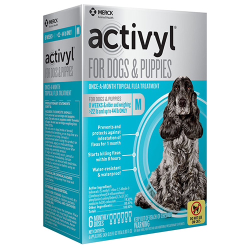 Activyl For Medium Dogs 22-44 Lbs Pink 4 Pack
