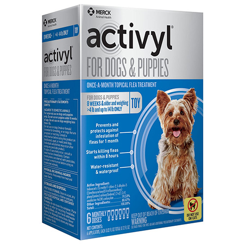 Best Vet Care coupon: Activyl For Very Small Dogs 4-14 Lbs Blue 4 Pack