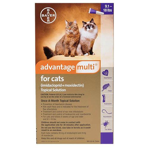 Advantage Multi Advocate Cats Over 10lbs Purple 3 Doses