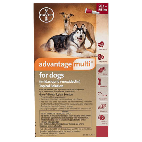 Advantage Multi Advocate Large Dogs 20.1-55 Lbs Red 12 Doses