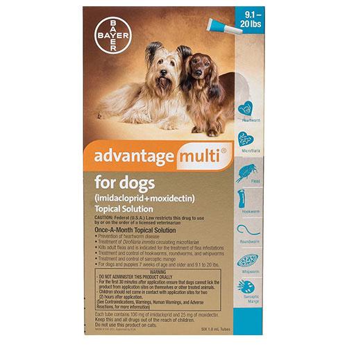 Advantage Multi Advocate Medium Dogs 9.1-20 Lbs Aqua 3 Doses