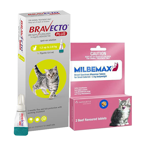 Bravecto Plus + Milbemax Cats Combo Pack for Cats
