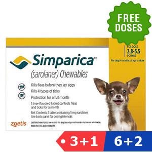Simparica Oral Flea & Tick Preventive for Dogs