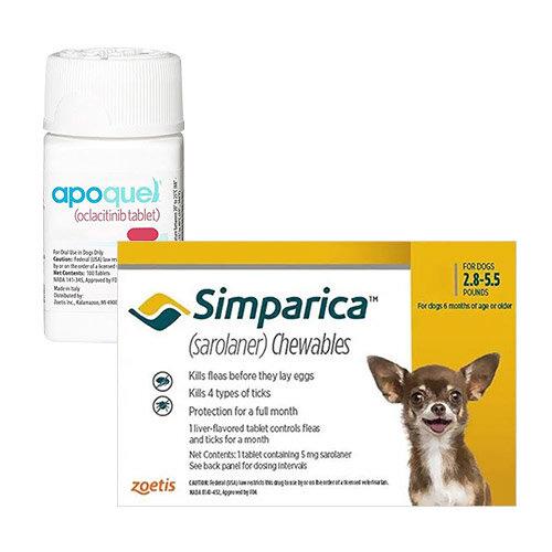 Simparica + Apoquel Combo Pack