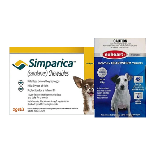 SIMPARICA + NUHEART (GENERIC HEARTGARD) Combo Pack for Dogs