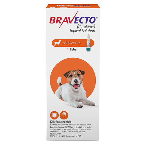 Best Vet Care coupon: Bravecto Topical For Small Dogs (9.9 - 22 Lbs) Orange 1 Doses