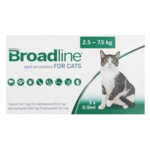 Broadline Spot-On Solution For Large Cats 5.5 To 16.5 Lbs 12 Pack