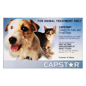 Best Vet Care coupon: Capstar Cat & Small Dog 11mg 2-25 Lbs Blue 6 Tablet