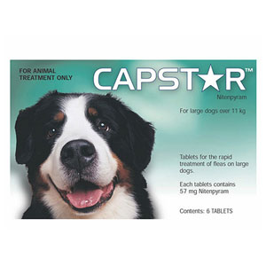 Best Vet Care coupon: Capstar Large Dog 57 Mg 25.1-125 Lbs Green 6 Tablet
