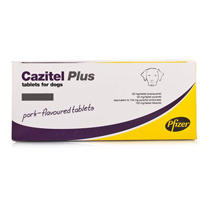 Cazitel Plus For Small And Medium Dogs 22 Lbs 10 Kg 2 Tablet