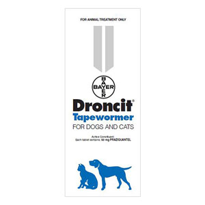 Droncit Tapewormer For Dogs & Cats 4 Tablet