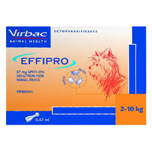 Best Vet Care coupon: Effipro Spot-On Solution For Small Dogs Up To 22 Lbs. 4 Pack